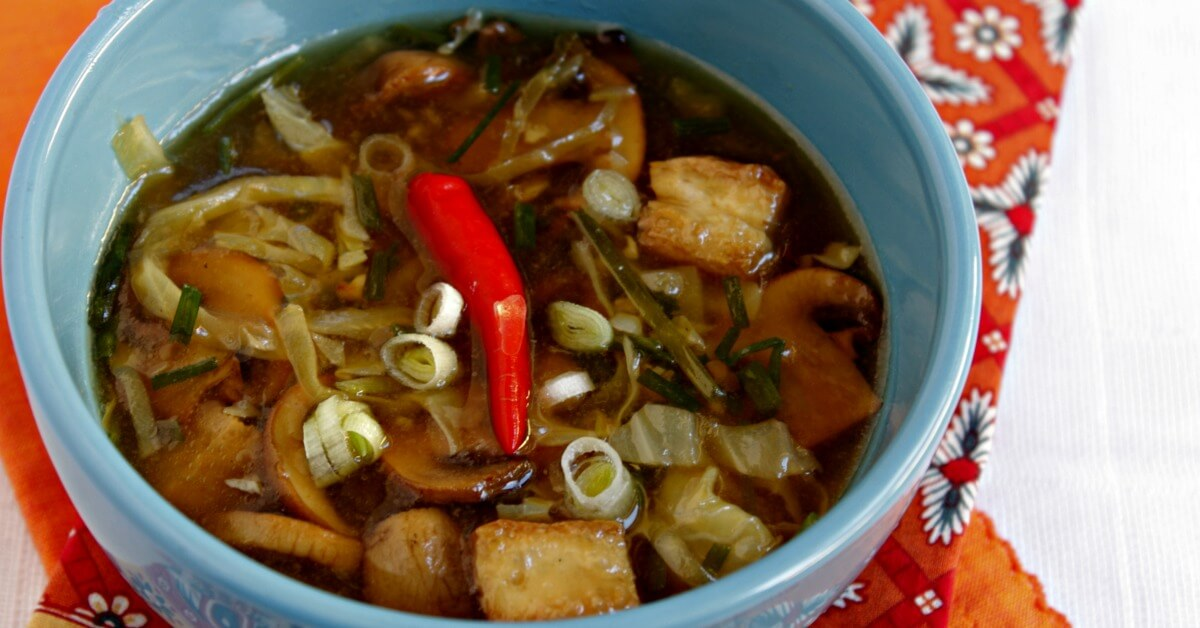 Hot and Sour Soup Part Two - Lydia's Flexitarian Kitchen